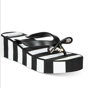 Kate Spade Rhett Wedge Striped Flip Flop